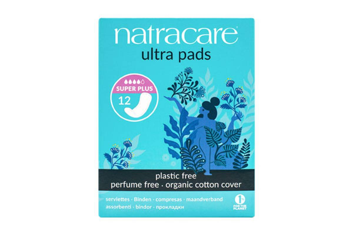 12 stk SUPER + Ultra pads bind / Natracare