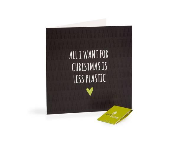 Bilde av Less plastic resirkulert julekort m/konvolutt
