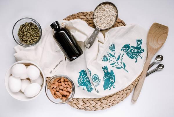 Bilde av Kjøkkenhåndkle i økologisk bomull, BIRD / Your Green Kitchen