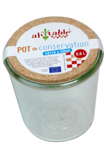 Bilde av 0.6L oppbevaringsglass med korklokk / Ahtablé