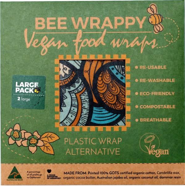 Bilde av 2-pk L veganske voksark Bee Wrappy