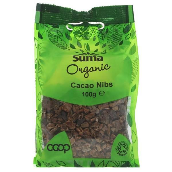 Bilde av Økologiske kakaonibs 100g / Suma