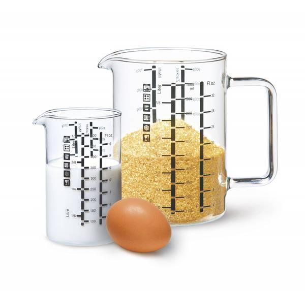 Bilde av 2-pk målebeger i glass, 500 ml og 1L / Ahtablé