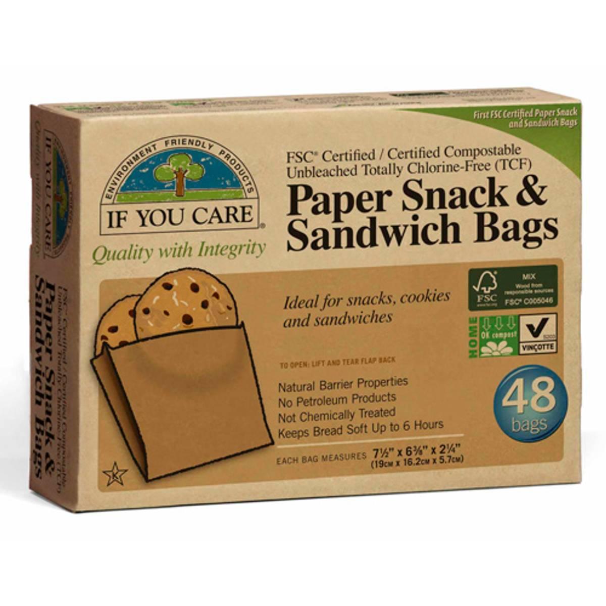 Papirposer ubleket 48 stk / If You Care