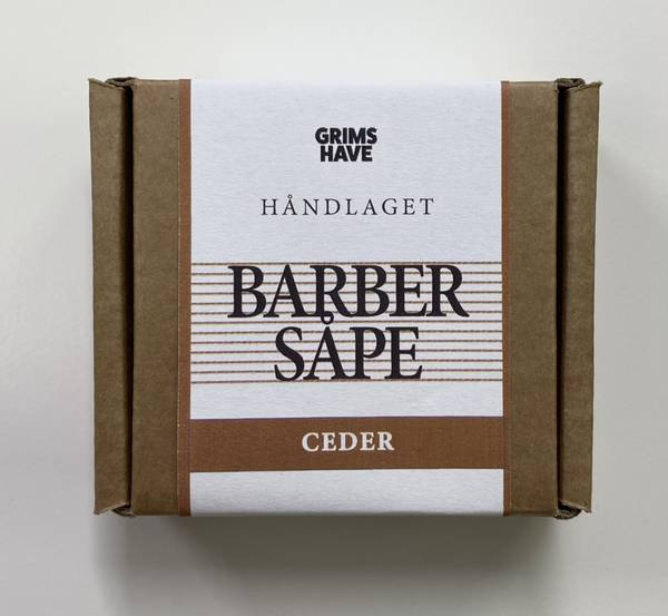 Bilde av Barbersåpe Cedertre økologisk, 80g / Grims Have