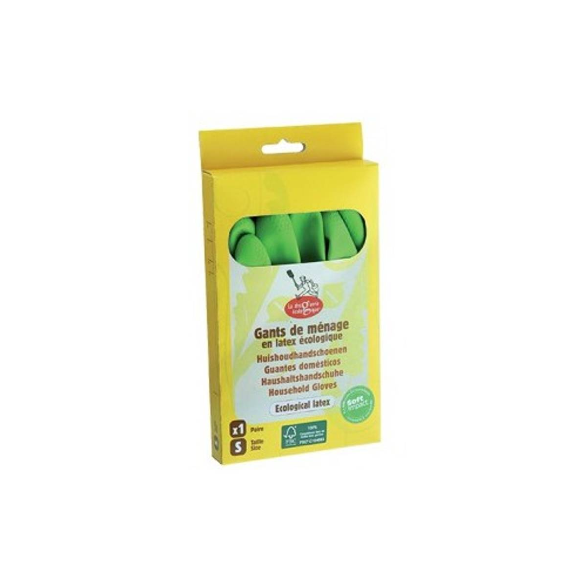 Økologiske gummihansker str. XL / La droguerie écologique®